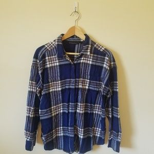 Tops - Attention Blue Plaid Flannel